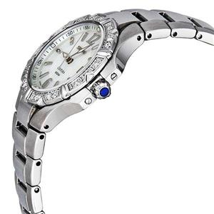 Seiko Women's SXDC33. Diamond Seiko Coutura. Sapphire Crystal and Cabochon Black Stone Crown. Silver