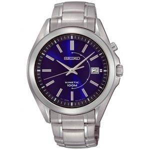 Seiko Men's SKA521. Silver Tone Stainless Steel Case/Bracelet. Electro-Mechanical Self Charging Kine