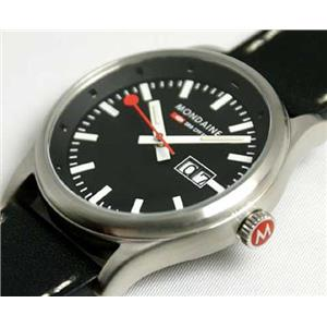 Mondaine A669.30308.14SBB. Swiss Railways Collection. Sport I Gents. Night Vision.Black Round Dial.B
