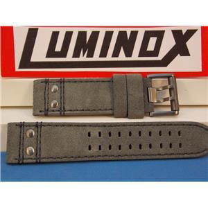 Luminox Watch Band Series 1820/1840, Dark Grey Leather Atacama, 23mm