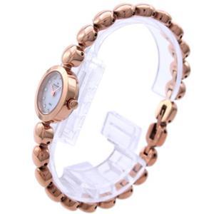 Skagen 107XSRXR. Ladies Petite Fashion Watch in Rose Gold Tone Case/Bracelet. White Dial w/ Jeweled