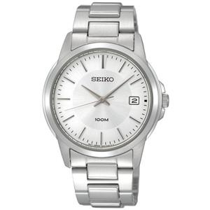 Seiko SGEF49P1. Mens Stainless Steel Silver Dial Bracelet. 100M Water Resist.