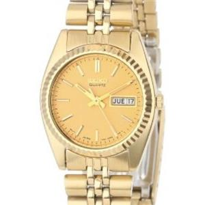 Seiko Women's SWZ058. Gold-Tone Case/Bracelet/Dial. Ladies Dress Day/Date Watch