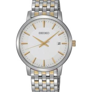 Seiko Men's SGEF91. Two Tone Stainless Steel Case/Band. 50 meter Water Resistant Dress Watch