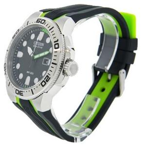 Citizen Men's BN0090-01E. Solar Powered Eco-Drive Scuba Fin Diver's Watch. Polyurethane Black- Green