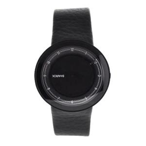 Fossil Men's PH5038. Black Leather Strap. with Black Dial Watch.