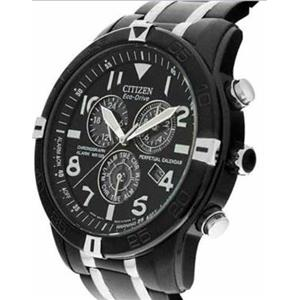 Citizen Men's BL5478-55E. Solar Powered Eco-Drive Chronograph Black Ion Plated Stainless Steel Brace