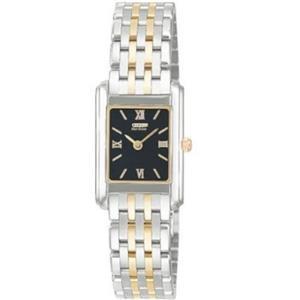 Citizen Women's EG3014 -50E. Eco-Driive Stiletto.Thin Case Two Tone Stainless Steel Bracelet Watch