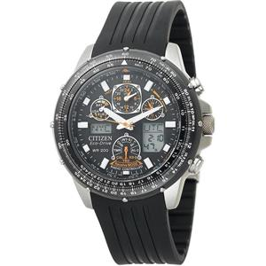 Citizen Men's JY0000 -02E. Eco-Drive Skyhawk A-T.  Black Rubber Strap. Chronograph Watch.