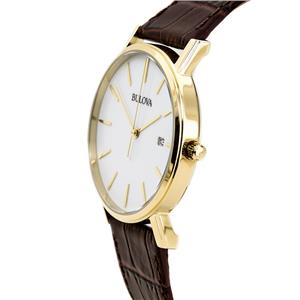 Bulova Men's 97B100. Strap White Dial Watch.