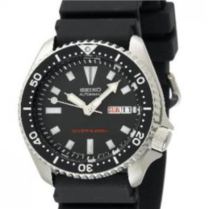Seiko Men's SKX173. Automatic Diver's. Urethane Black Strap. Heavy Steel Case. Black Dial Watch.