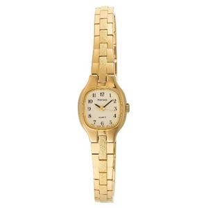 Pulsar Women's PPH106. Petite Gold Tone Stainless Steel Bracelet. Beige Dial Watch.