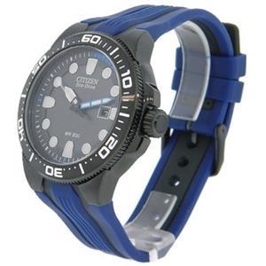 Citizen Men's BN0097-02H. Solar Powered Eco-Drive Scuba Fin Diver's Watch. Black- Blue Polyurethane