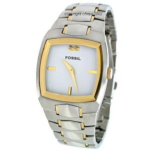 Fossil Men's FS4215 . Metal Dress Silver Dial Bracelet Watch.