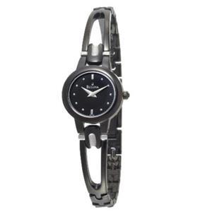 Bulova Women's 98L142 Watch. Black Dial/Bracelet