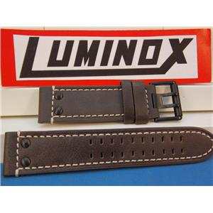 Luminox Watch Band Series 1820/1840, Brown Leather with White Stitching Field Model 1837, 23mm