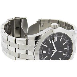 Guess Men's U95133G1.Silver Tone Stainless Band/Bracelet Dress Watch.100 Meter Water Resistant