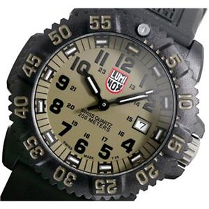 Luminox A3063. Navy Seals Evo Colormark. Khaki w/Glo Markers. Night Vision.