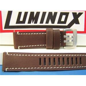 Luminox WatchBand 1800 Field Brown 23mm Leather Watchband-Strap. Steel Buckle