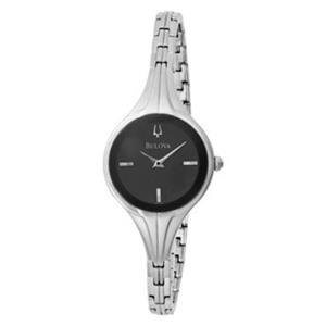 Bulova Women's 96L119 Bangle Black Dial Watch