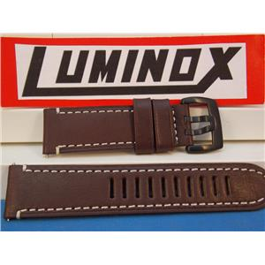 Luminox Watch Band Series 1800, Dark Brown with White Stitching Field Automatic Model 1807, 23mm