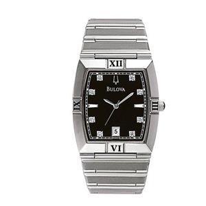 Bulova Men's 96D001 Diamond Dial Calendar Watch.