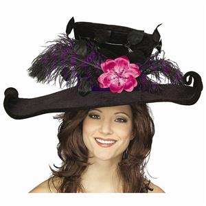 Black Victorian Hat With Plumes Feathers Mary Poppins