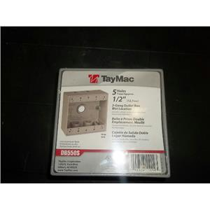TayMac 5 hole 1/2 inch Outlet Box DB550S