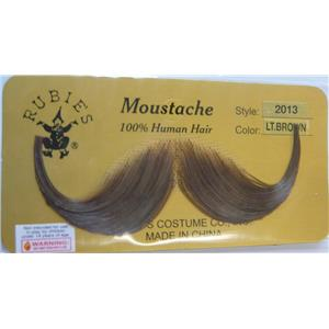 Light Brown Real Human Hair Handlebar Mustache 2013
