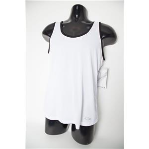 Oakley All In Tank Top Women's White/Black Small NWT