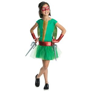 Teenage Mutant Ninja Turtles Deluxe Raphael Tutu Dress Girls Costume Size Large