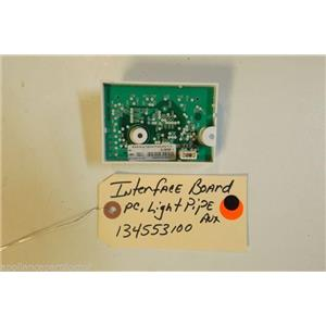 FRIGIDAIRE Washer 134553100  134556500  Interface Board,pc light pipe ,auxiliary