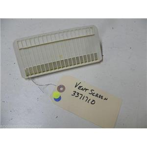 WHIRLPOOL DISHWASHER 3371710 VENT SCREEN USED PART ASSEMBLY