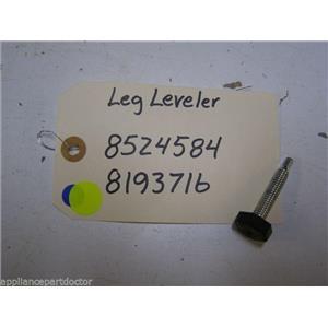 KENMORE DISHWASHER 8524584 8193716 LEG LEVELER USED PART ASSEMBLY