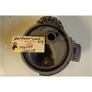 BOSCH DISHWASHER 746094  752078  Heat pump, sump NEW W/O BOX