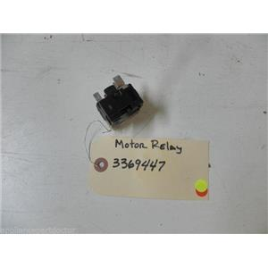 KENMORE DISHWASHER 3369447 MOTOR RELAY USED PART ASSEMBLY