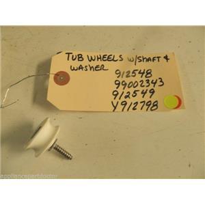 MAYTAG DISHWASHER 912548 99002343 912549 Y912798 TUB WHEEL W/ SHAFT & WASHER