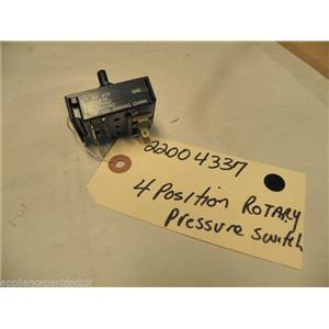 MAYTAG WASHER 22004337 4 POS ROTARY TEMP SWITCH USED PART ASSEMBLY
