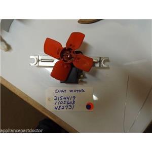 REFRIGERATOR 2154419 1105608 482731  EVAPORATOR MOTOR W/ BLADE  USED