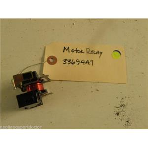 WHIRLPOOL DISHWASHER 3369447 MOTOR RELAY USED PART ASSEMBLY F/S