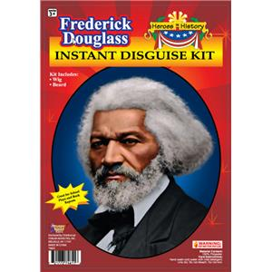 Heroes in History Frederick Douglass Instant Disguise Kit Grey Wig Beard School