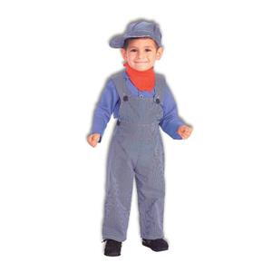 Lil Engineer Train Conductor Child Costume Size Small 4-6