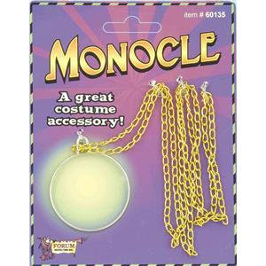 Deluxe Monocle with Gold Chain