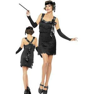 Smiffy's Fever Women's Flapper Foxy Black Costume Size Large 14-16