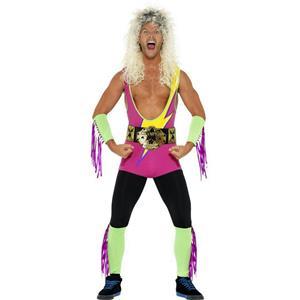 Smiffy's Men's 80's Retro Wrestler Adult Costume Size Medium