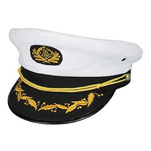 Navy Admiral Ship Captain Yacht Skipper Sailor Nautical Costume Hat