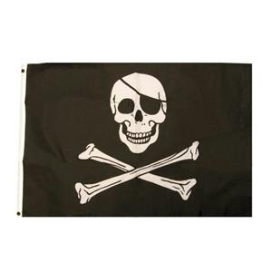Jolly Roger Skull and Crossbones Pirate Flag