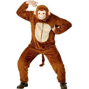 Smiffy's Monkey Adult Costume with Hood Size Large