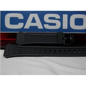 Casio Watch Band W-201 Black Resin Strap for Illuminator model 18mm X 23.5mm