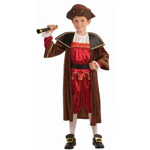 Christopher Columbus Child Costume Size Small 4-6